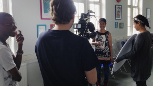 Filming performances with young people and Belle Vue at Z-Arts, Manchester, June 2015.