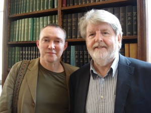 Dr Liam Harte (left) and playwright Martin Lynch (right)
